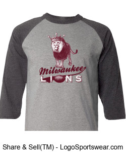 The Milwaukee Lions Champion Smart Raglan Tee Design Zoom