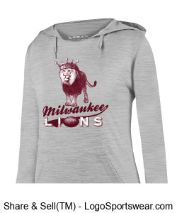 The Milwaukee Lions Ladies Smart Hoodie Sweatshirt Design Zoom