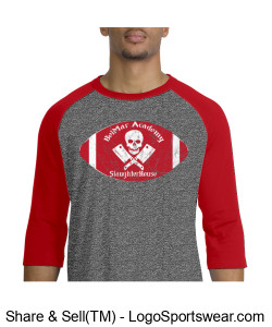 BelMar Academy SlaughterHouse - Mens Raglan T (Red) Design Zoom