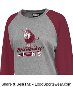 The Milwaukee Lions Ladies Smart Crew Sweatshirt Design Zoom