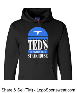 "Ted's of Beverly Hills ""Retro"" Sweatshirt (Champion brand) Design Zoom"