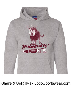 The Milwaukee Lions Champion Smart Hoodie Sweatshirt Design Zoom